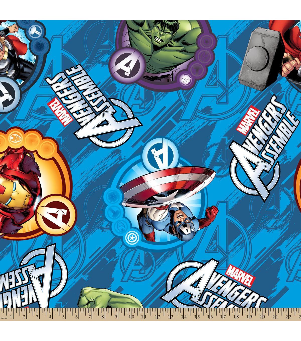 Marvel Comics Avengers Fleece Farbic 59\