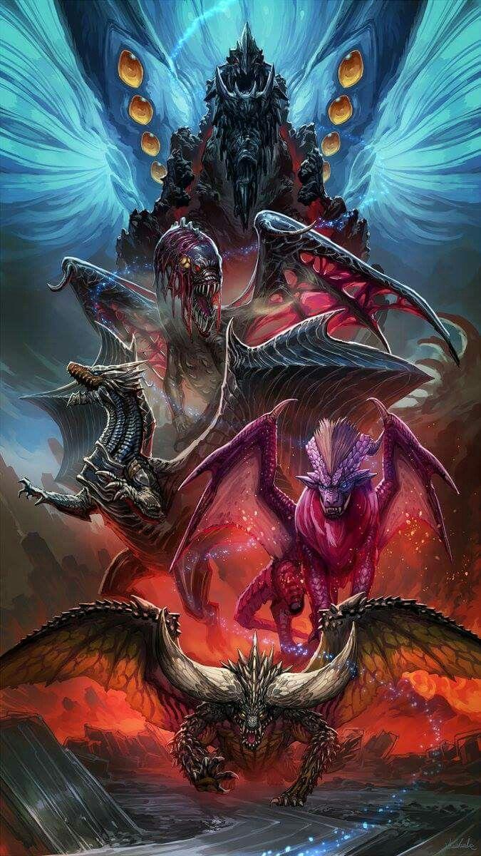 The Elder Dragons Of Monster Hunter World Monster Hunter Series Monster Hunter Monster Hunter Memes