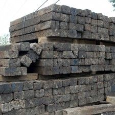 Old railroad ties for landscaping  Look at nurseries, lumber