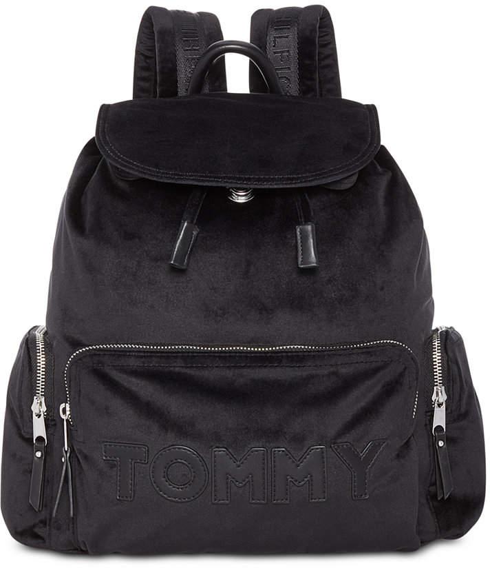 5e7c8534 Tommy Velvet Flap Backpack in 2019 | purses | Tommy hilfiger ...