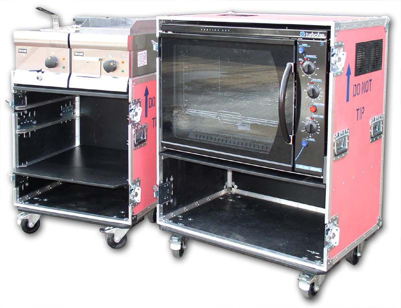 Catering flight cases for the ever popular popcorn catering