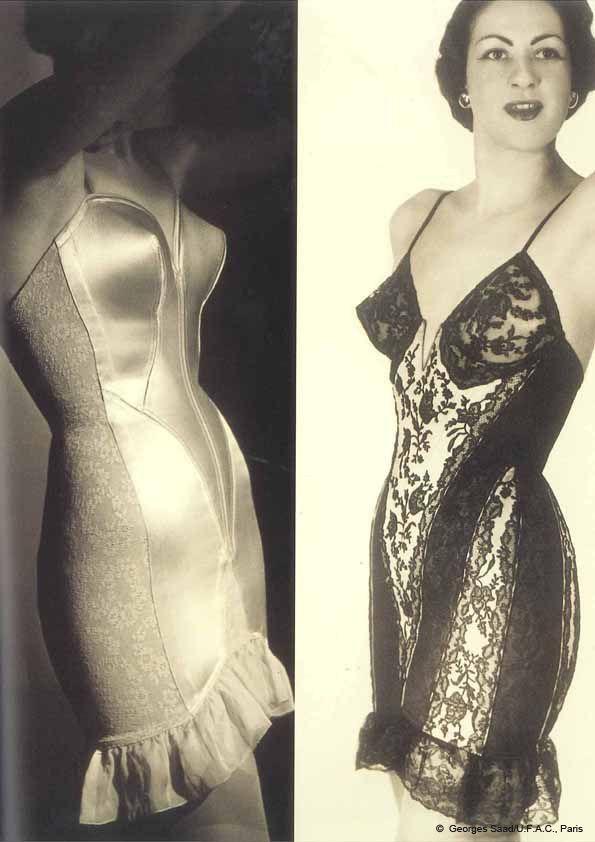 40s satin porn - Lace and satin Torsolet | vintage 1940s undergarments | 40s girdles