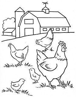 Desenhos Para Colorir Animais Da Fazenda Com Imagens Desenhos