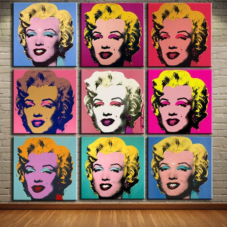 Free Shipping Buy Best Dp Artisan Andy Warhol 9pcs Marilyn Monroe