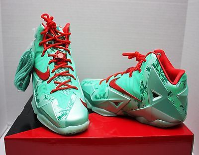 6ca06f756adad Nike Lebron XI 11 Holiday Size 11- Christmas Collection Gamma - 616175 301