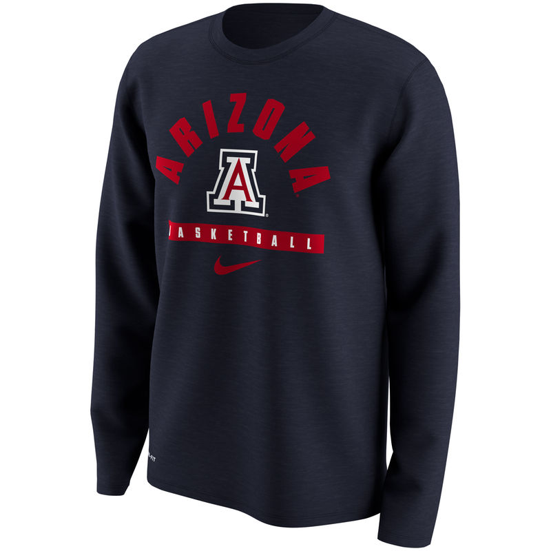 online store 86c60 64ab0 Men s Nike Navy Arizona Wildcats Basketball Legend Long Sleeve Performance  T-Shirt