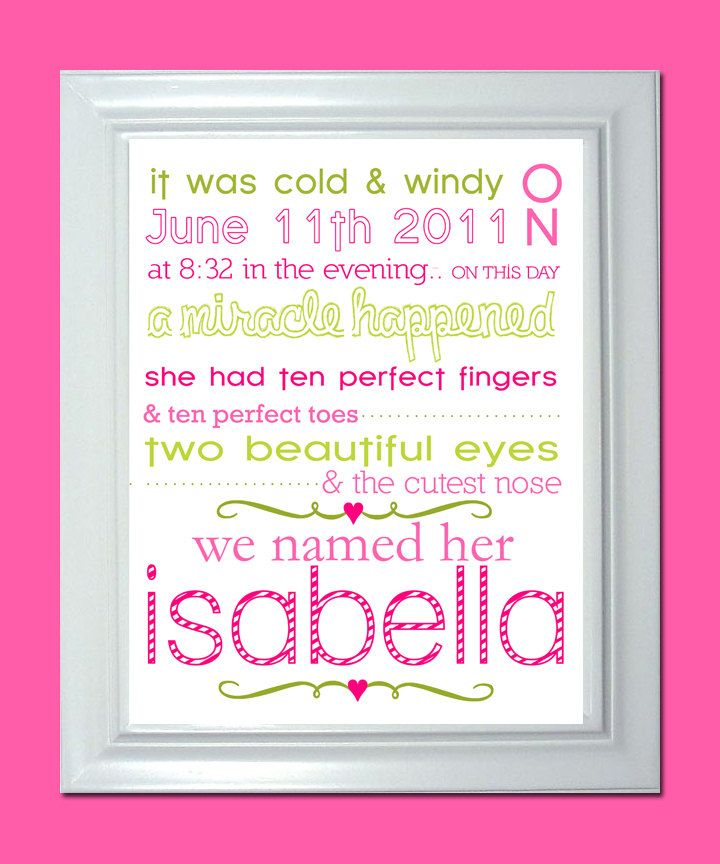 Cute idea for a birth announcement