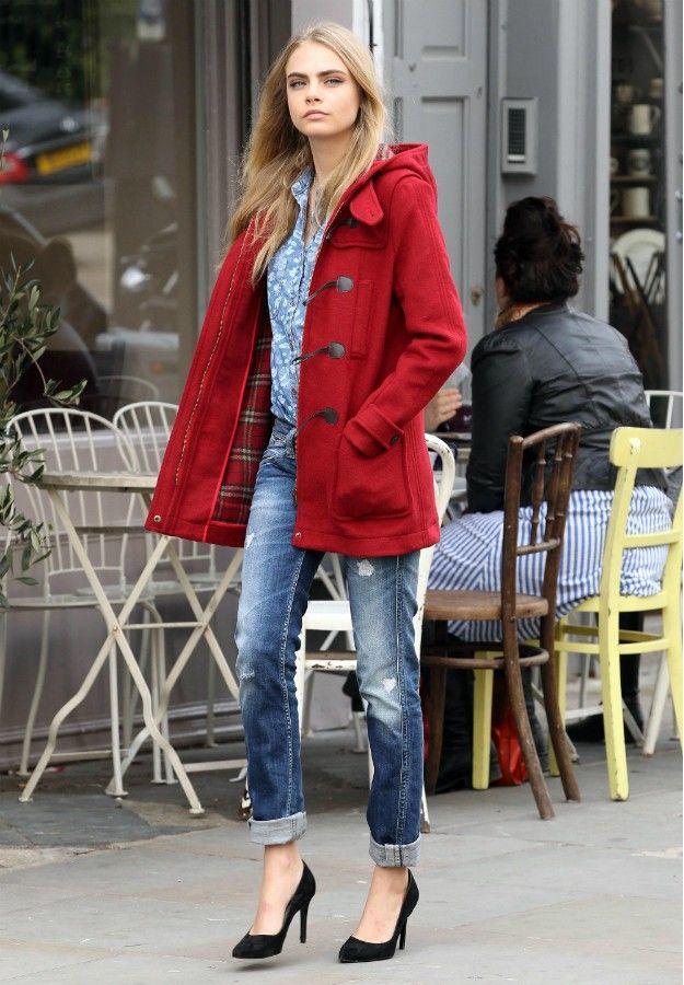 Cara Delevinge #boyfriend #jeans