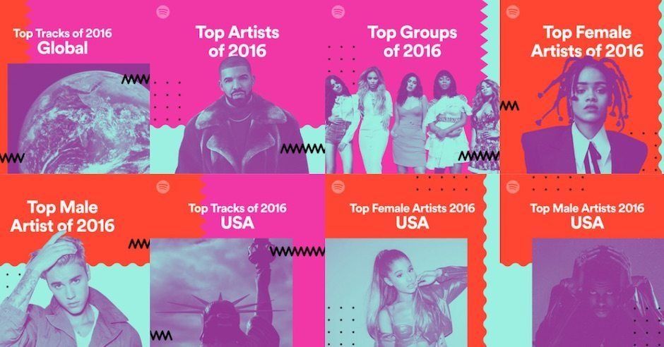 Image result for spotify campaign 2017 web design trends