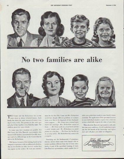1942 John Hancock Life Insurance Company Vintage Ad No Two