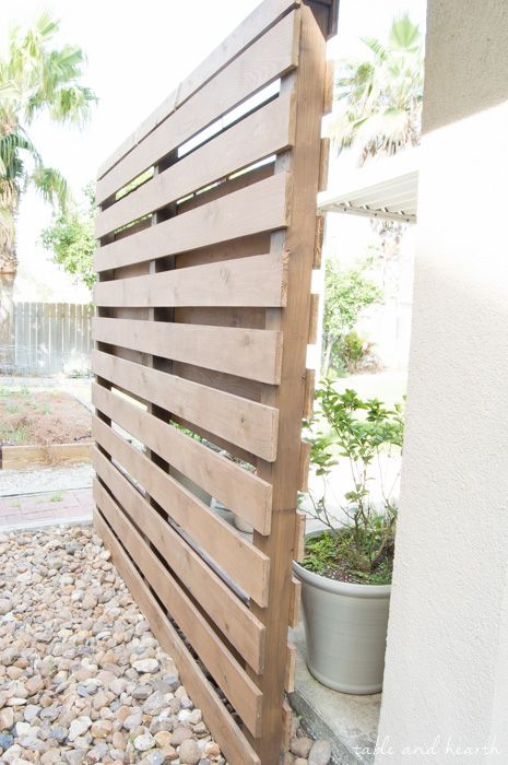 Beautiful How To Build A Diy Privacy Wall To Polish Off Your