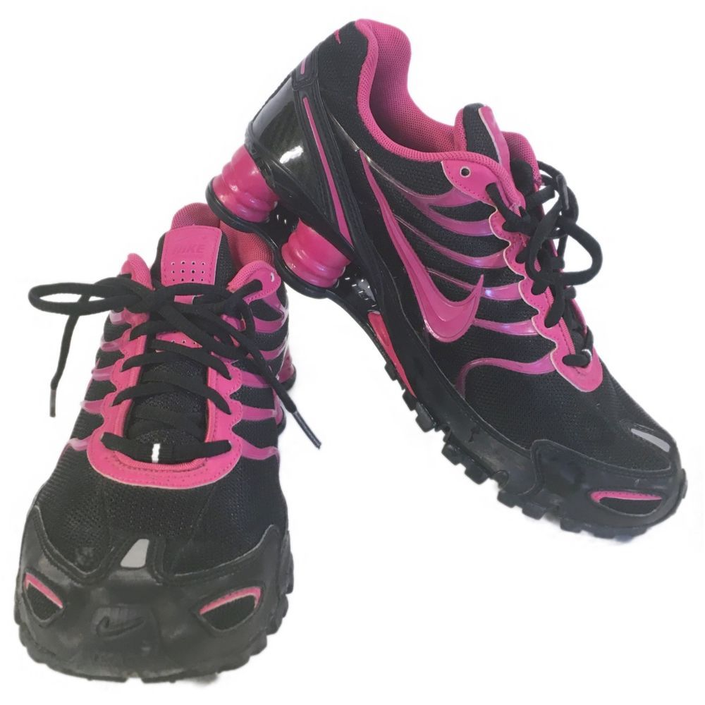 new arrival 86b14 9af86 Nike Shox BRS 1000 Black And Pink Womens Running Shoes Size 8.5 NikeiD  Nike   LowTop