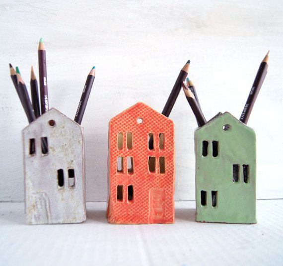 Teacher Appreciation Gift Teacher Gift Ceramic House End Of Etsy Ceramic Houses Gifts For Office Pottery