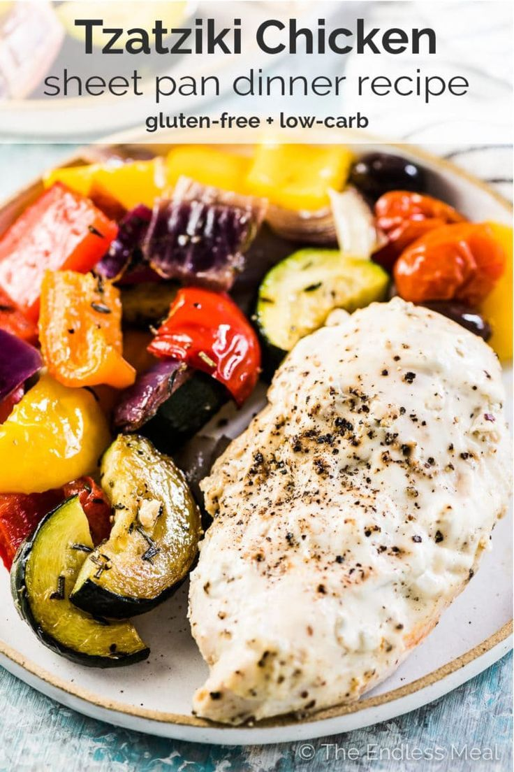 Sheet Pan Tzatziki Chicken images