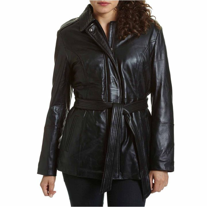 Shop EXcelled Women's Plus Size Black Leather Belted