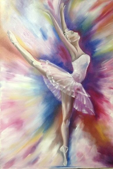 bf2048e4e4 Quadro Bailarina - pintura em tela quadro pintura pintura em tela óleo  sobre tela bailarina belé ballet colorido tutu sapatilha painel balé  sapatilhas ...