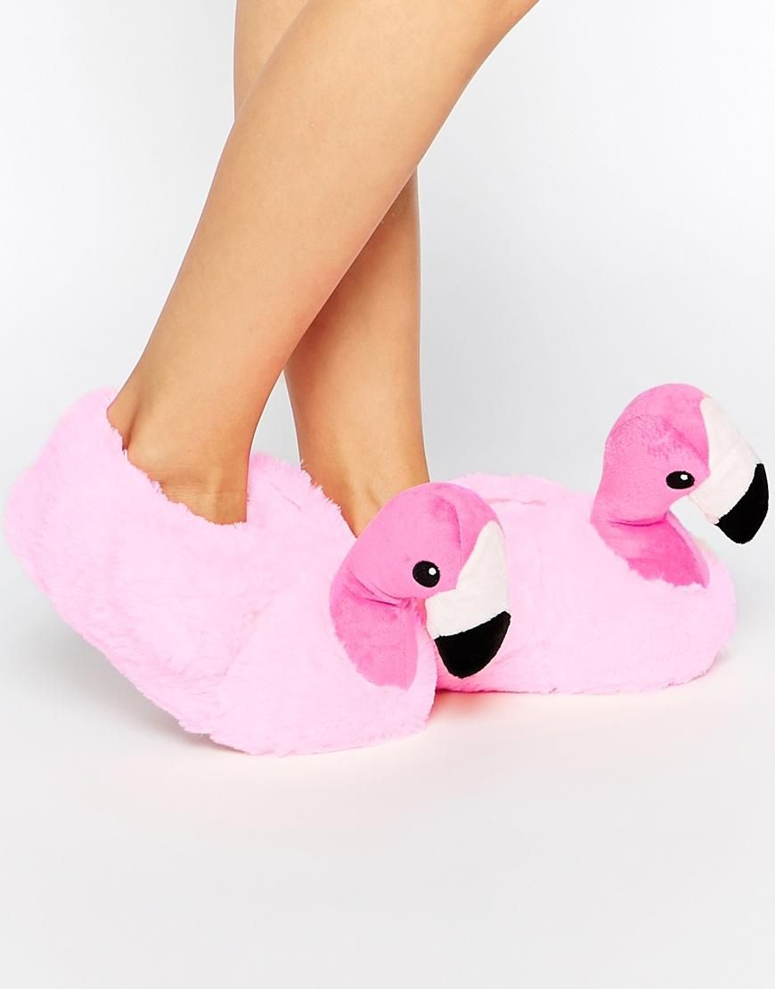New Look New Look Flamingo Novelty Slippers At Asos Flamingo Love Slippers Shoes E Flamingo
