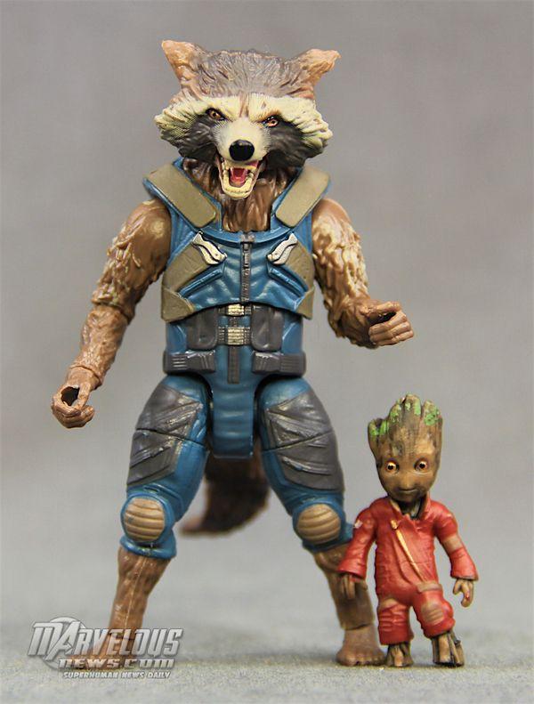Rocket Racoon /& Groot 2 Marvel Legends Guardians of the Galaxy Vol