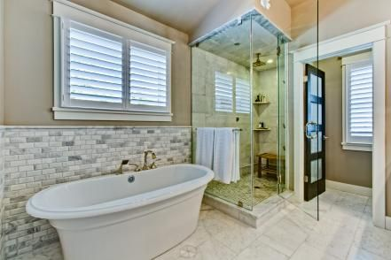 Whether Contemporary Or Traditional, Top Designers Transform Bathrooms With  Creative Tile Displays, Sleek Fixtures