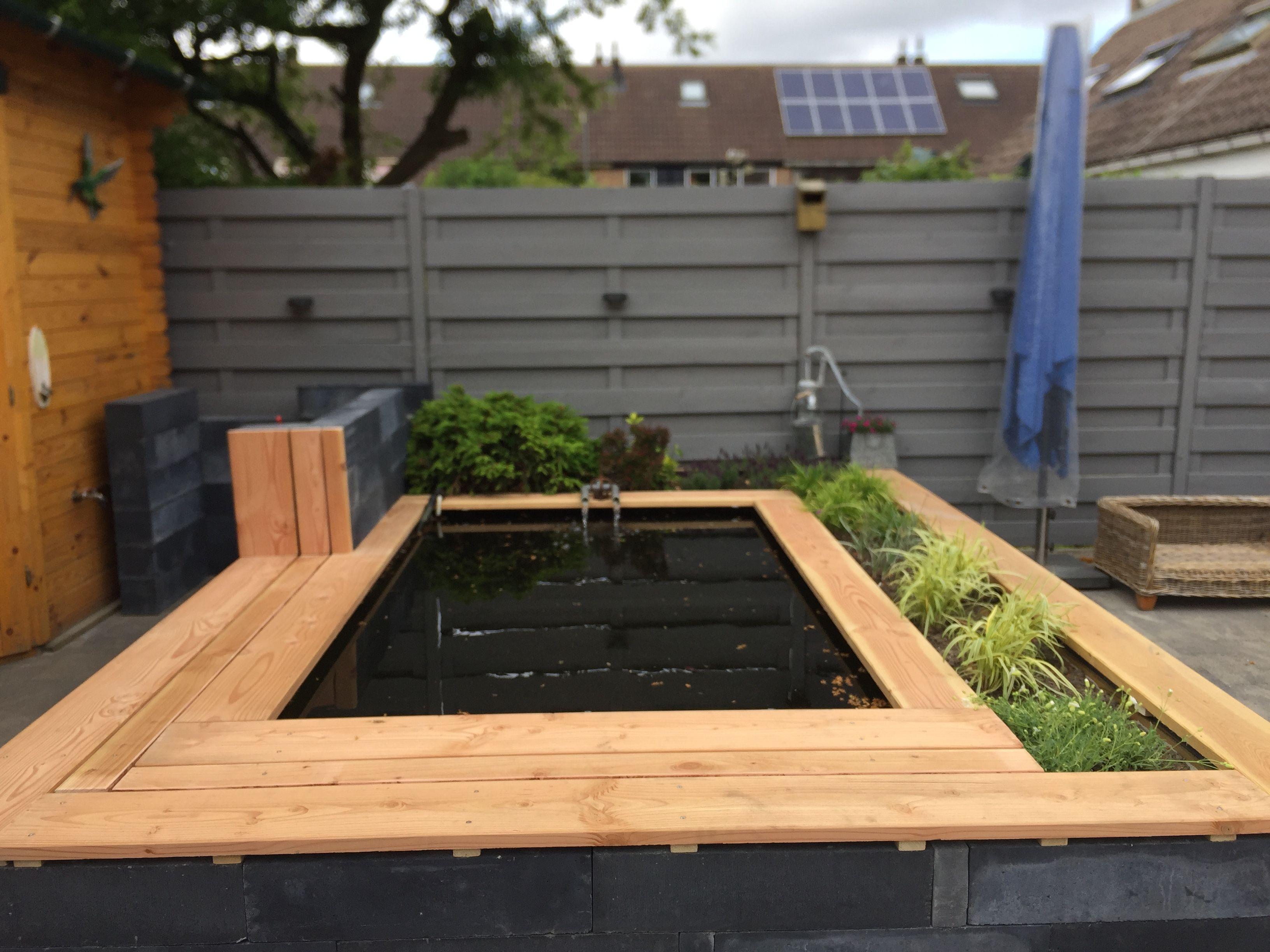 Vijverrand van hout vijver in 2019 outdoor decor for Vijverrand maken