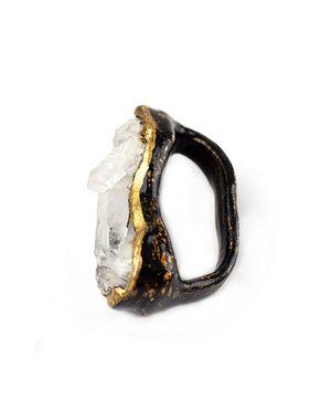 Salt of the Earth, two finger quartz ring