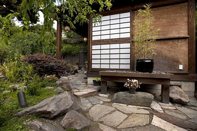 Japanese Style Backyard japanese teahouse for two | japanese style, water features and