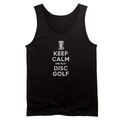 KEEP CALM DISC GOLF white Tank Top> Keep Calm And Play Disc Golf> BIRDSHOT DISC GOLF
