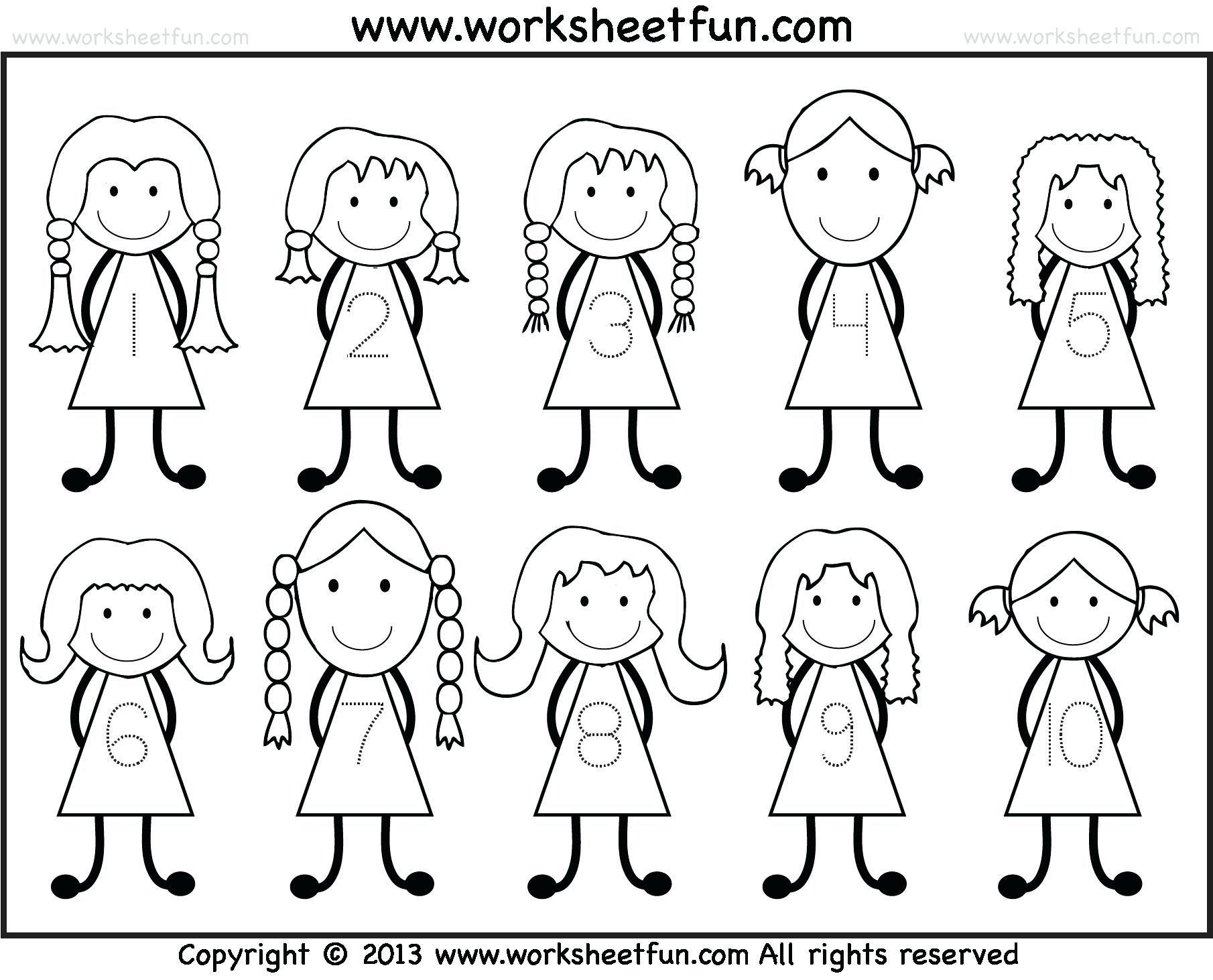 Free Number Tracing Worksheets 1 10 Download Number