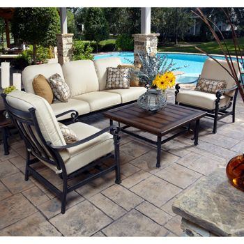 Meridian 5 Piece Seating Set Outdoor Furniture Costco Patio