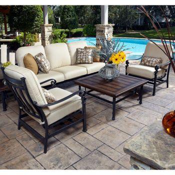 Meridian 5 Piece Seating Set Outdoor Patio Furniture Outdoor