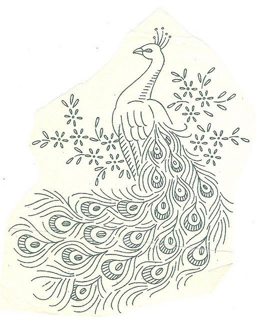 peacock vintage late 50s | Draw | Pinterest | Bordado, Patrones and ...