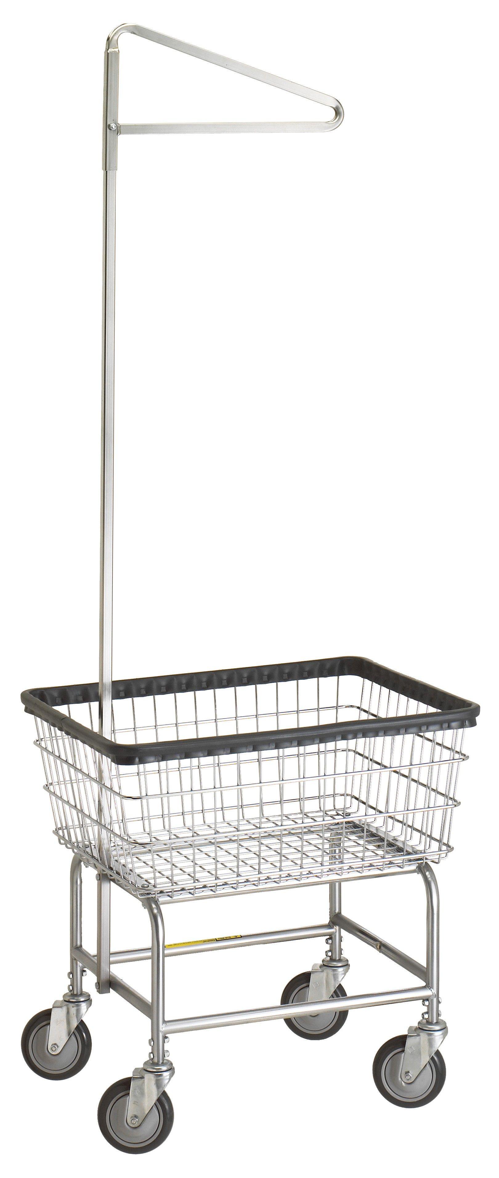 Narrow Laundry Cart With Single Pole Rack Laundry Cart Laundry