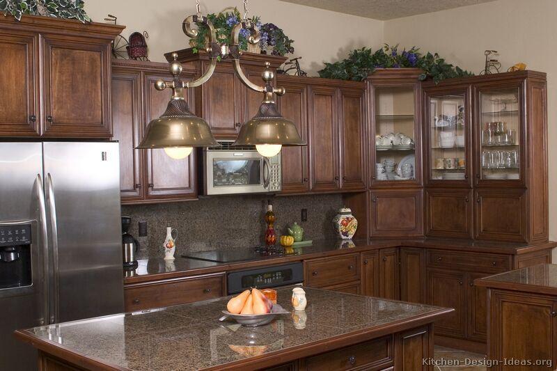 Best Traditional Dark Wood Walnut Kitchen Cabinets 21 Kitchen 640 x 480