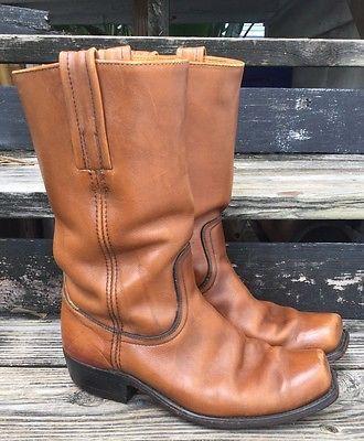 FRYE Leather Boots Vintage Black Label Men's 8 Ladies 9.5