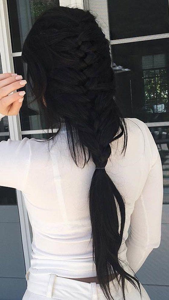 Photo of Morena: peinados negros largos 32+ foto, # morena # peinados trenzados #peinado …
