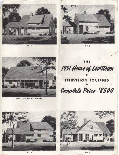 Early Levittown advertisement from 1951: Levittown NY ranch