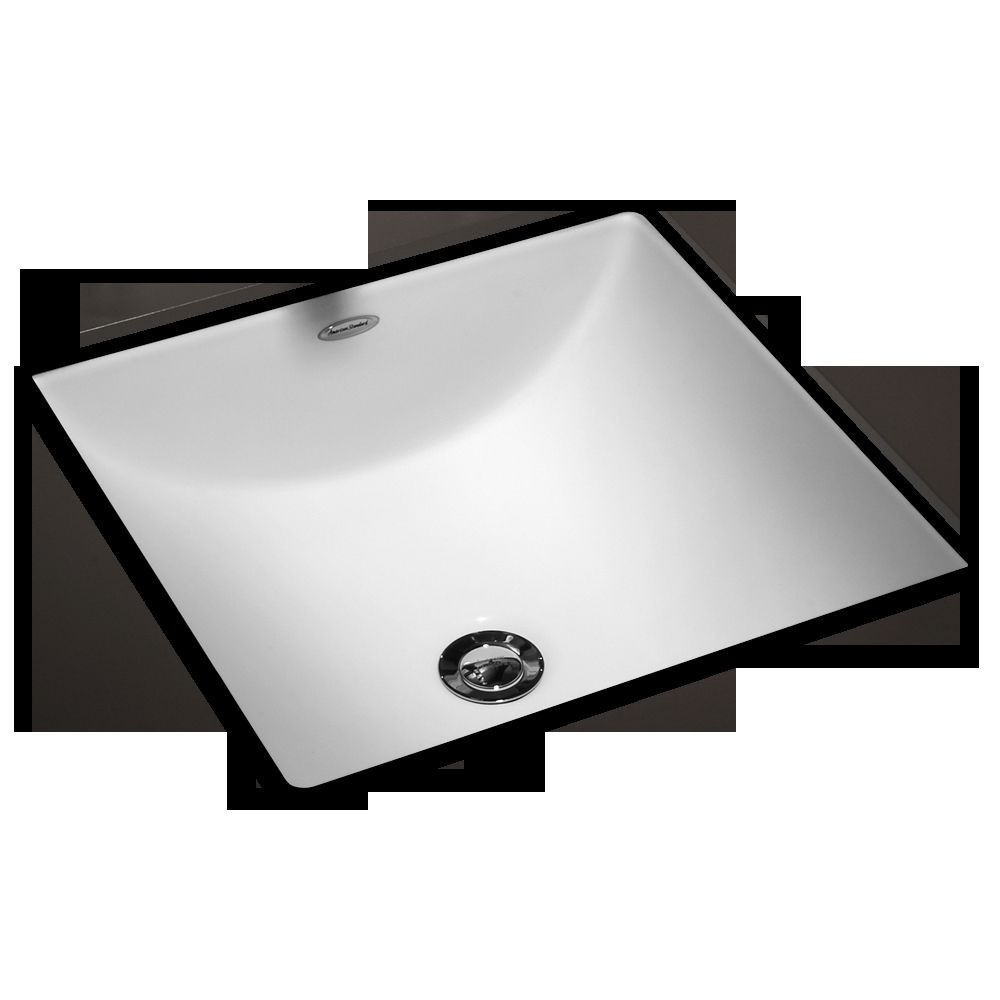 American Standard Studio Carre White Undermount Bath Sink | Bathroom ...