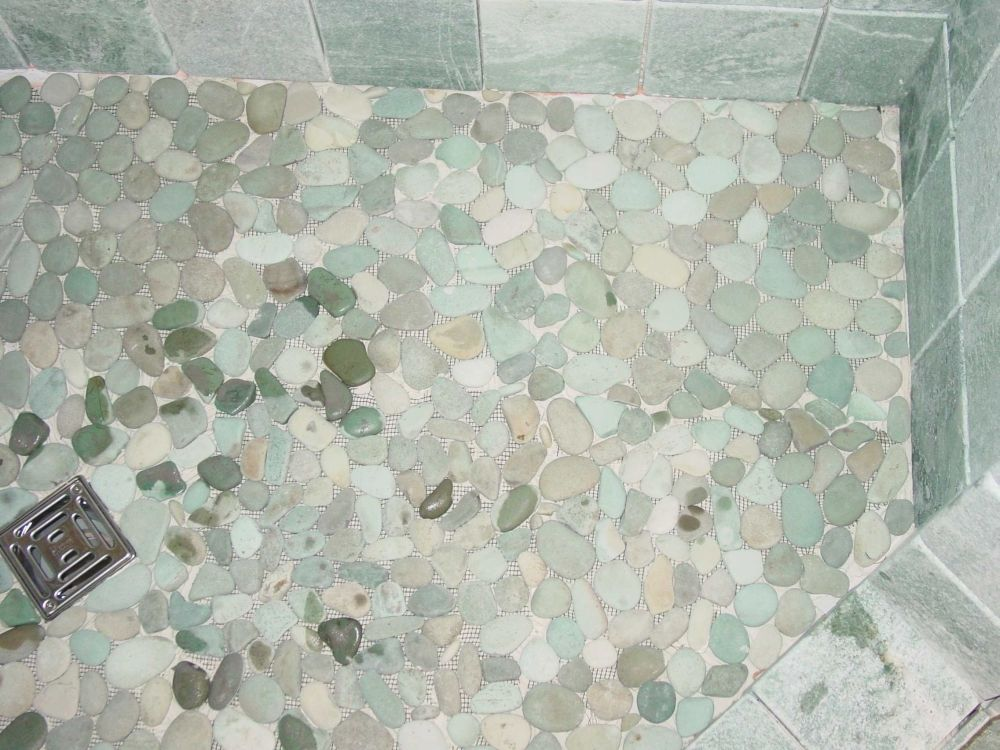 Pebble Shower Floors For Tiled Showers How To Install Small Rocks