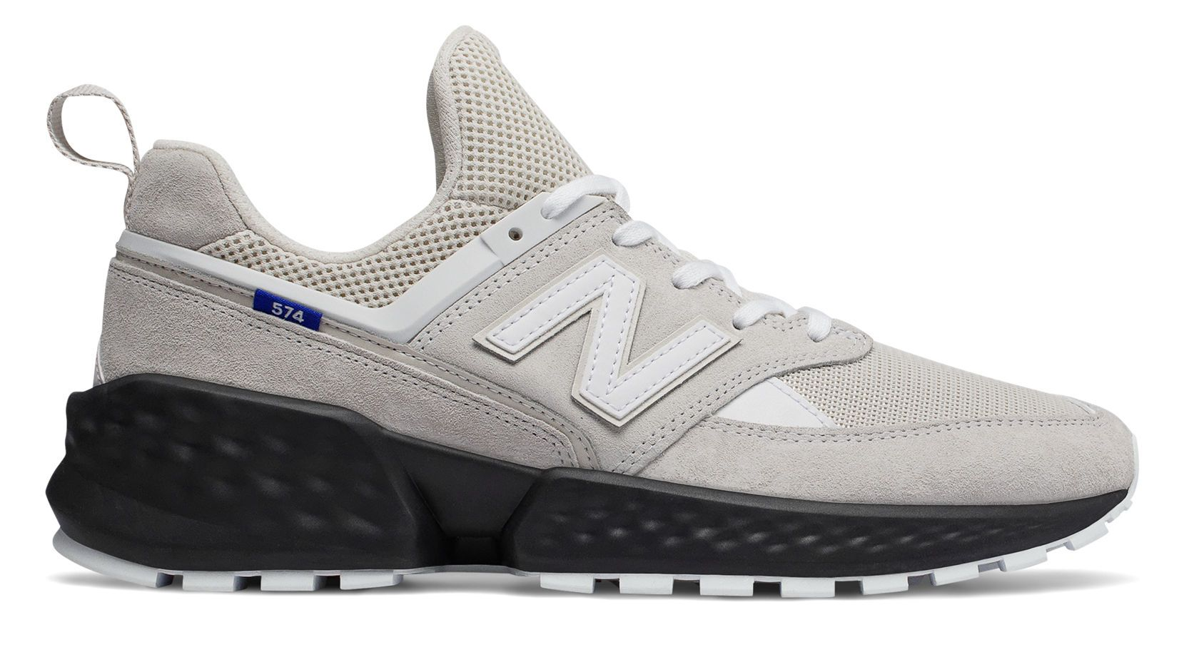 574 Sport, Moonbeam with White Casual athletic shoes