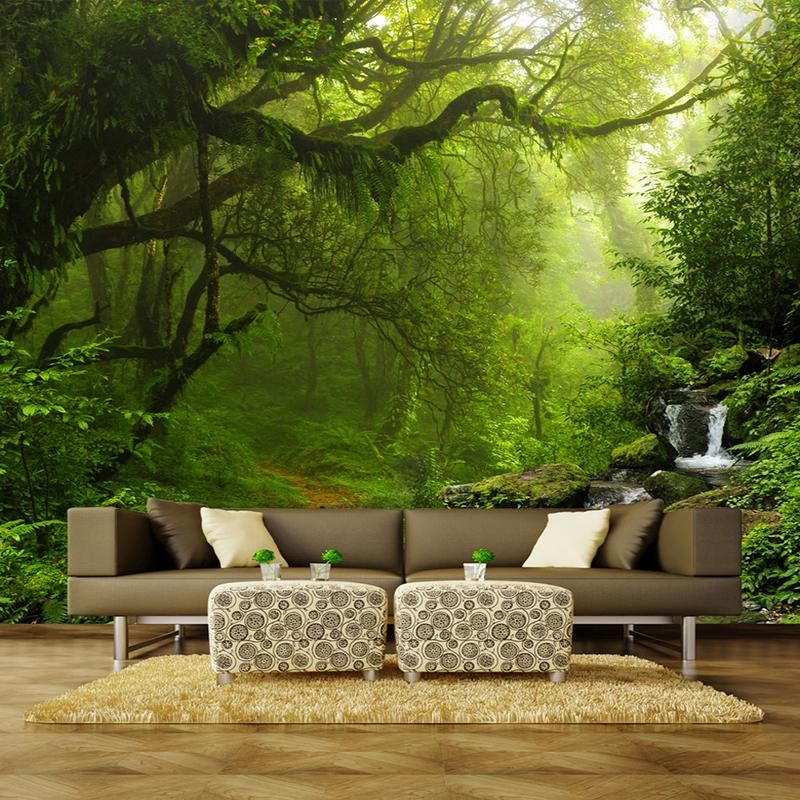 3D Wallpaper Mural Forest Nature Landscape in 2020