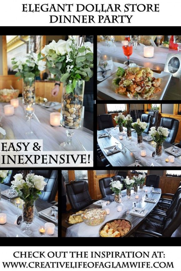 Inexpensive Dinner Party Ideas Part - 31: Classy Dollar Store Decorating   Elegant Dollar Store Dinner Party