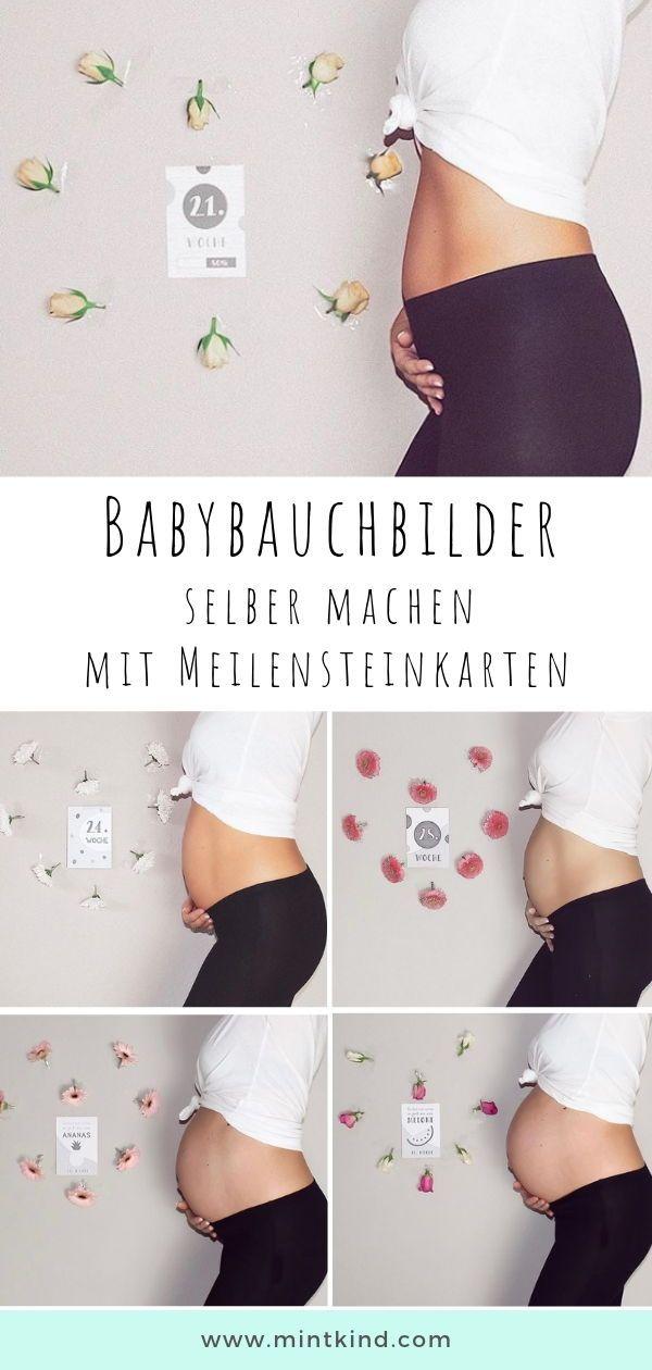 mintkind Meilensteinkarten Schwangerschaft - 26 Karten / Farbe grau