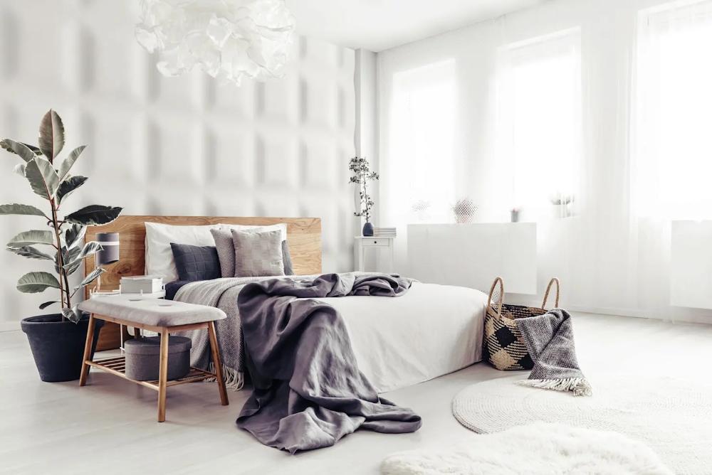 Schlafzimmerwandgestaltung Mit 3d Effekt Und Betonoptik Von Loft Design System Germany Wand Haus Deko Schlafzimmer Einrichten Schlafzimmer Design