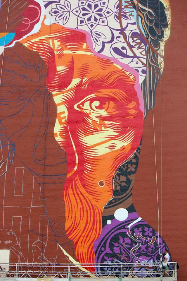 Artist tristan eaton los angeles born and raised we for Audrey hepburn mural los angeles