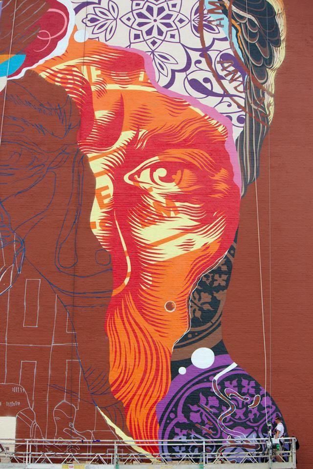 Artist tristan eaton los angeles born and raised we for Audrey hepburn mural los angeles