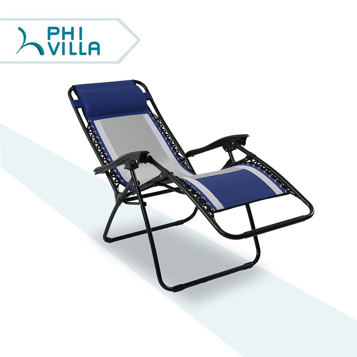 Phi Villa Mesh Fabric Zero Gravity Lounge Chair Patio Folding Adjule Recliner For Outdoor Yard Beach Blue Visit The Image Link More Details