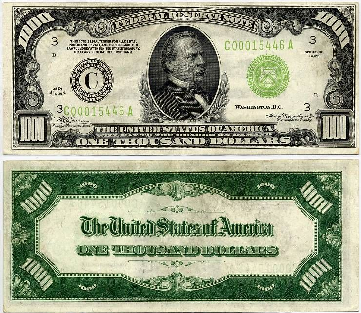 picture relating to Fake 1000 Dollar Bill Printable named United Says A single Thousand Greenback Federal E-book Be aware u s