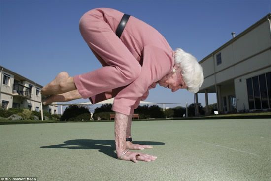 OK- She is a perfect illustration of one of the reasons why I love yoga so much. I can do it the rest of my life! Amazing!