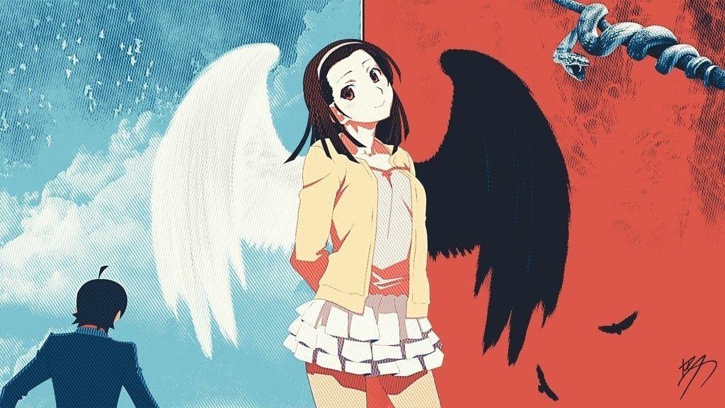 Pin Em Monogatari Series Novel Series Anime Wallpapers
