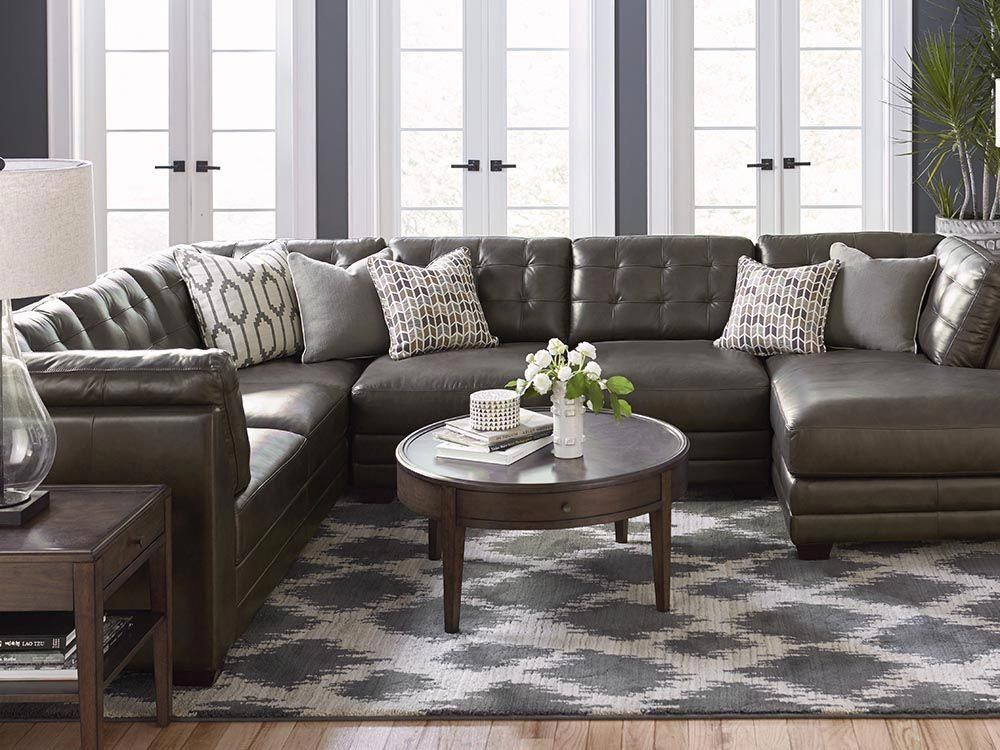 Most Popular U-Shaped Leather Sectional - Espresso